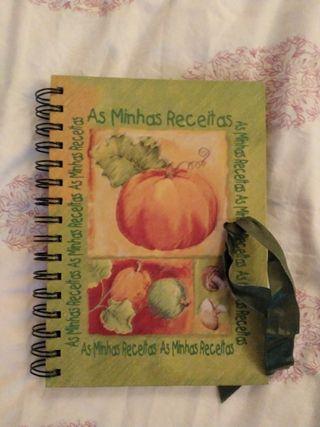 Libro para escribir recetas