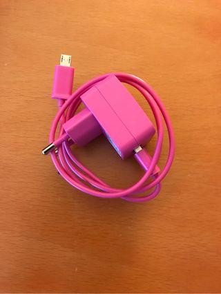 Cargador movil universal rosa