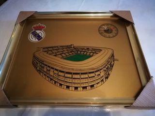 Real Madrid cuadro con reloj