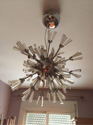 Lampara techo con cristales