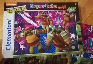 Puzzle Tortugas Ninja, para 3 años