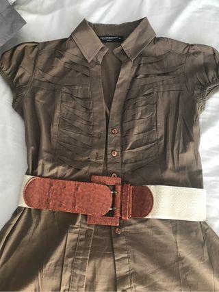 Camisa con cinturon