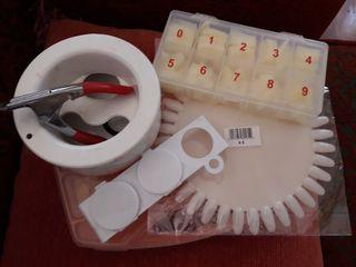 kit uñas gel o porcelana