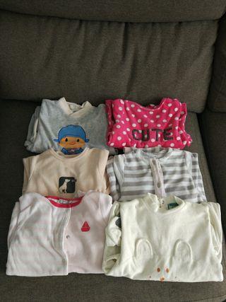 lote 6 pijamas invierno 9-12 meses