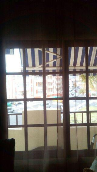 cortina visillo ojado color marron