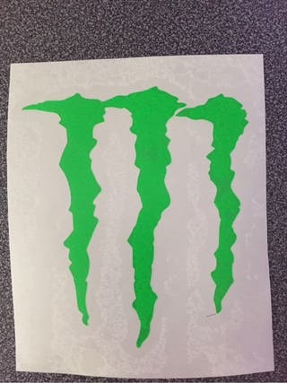 Pegatina monster energy