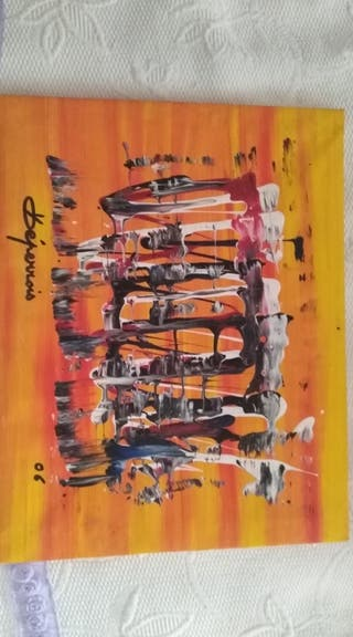 Cuadro lienzo Max deperrois comprado en galeria