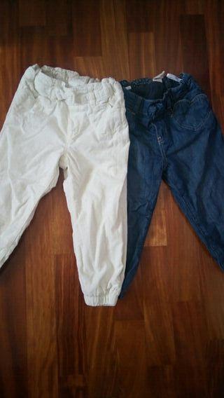 2 pantalones de niña de 18 meses a 2 años