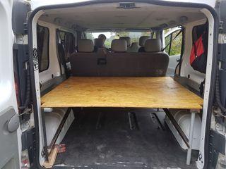 Estructura cama furgoneta