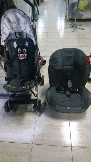 lote silla de paseo y silla de coche con isofix