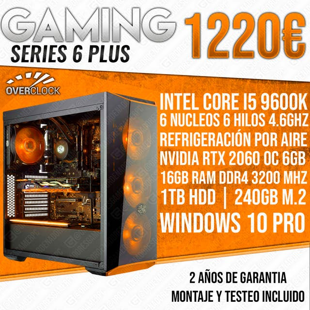 PC ORDENADOR GAMER I5 9600K RTX 2060 16GB RAM de segunda