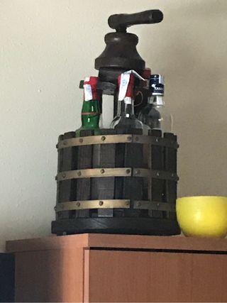 Botellero prensa de vino