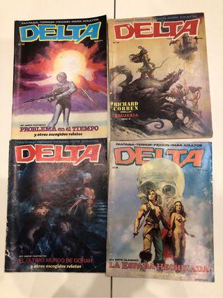 Lote 4 Cómics Delta antiguos