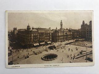 VALENCIA. Plaza del Caudillo. Postal JDP (h.1910?)