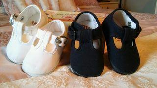 Zapatillas de lona bebé. Sin estrenar. talla 18