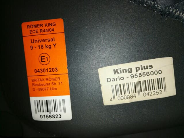 silla coche romer king plus ece r44 04 de segunda mano por. Black Bedroom Furniture Sets. Home Design Ideas