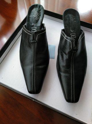 zapatos piel negros