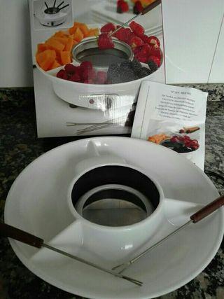 fondue chocolate para frutas