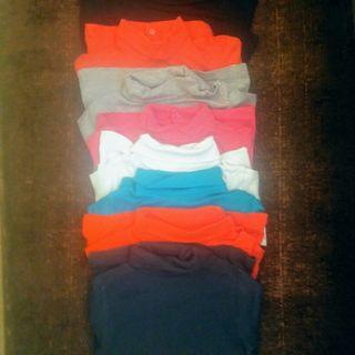 camiseta cuello 5 años lote de 8 prendas
