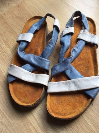 Zapato sandalia porronet de piel