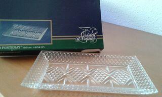 Bandeja y caja de Cristal d'Arques