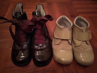 lote dos pares zapatos niña 24 y 25