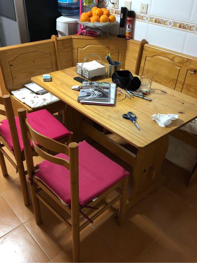 Mesa rinconera de cocina mader de segunda mano por 120 € en Paterna ...