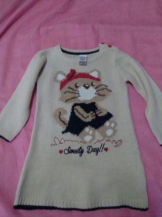 vestido de lana niña