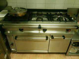 REPAGAS.Cocina industrial de tres fuegos