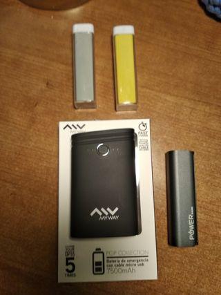 baterías portátiles nuevas