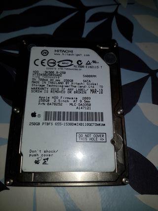 disco duro 2.5 Apple 250gb