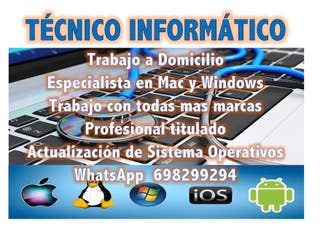Informatico a Domicilio Mac y Windows