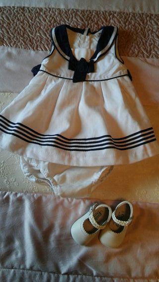 Vestido bebé talla 9meses