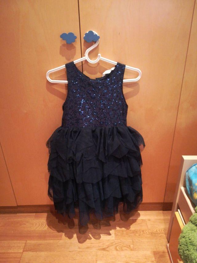 8caebc31d Vestido de fiesta niña t.9/10 + zapatos de segunda mano por 15 € en ...