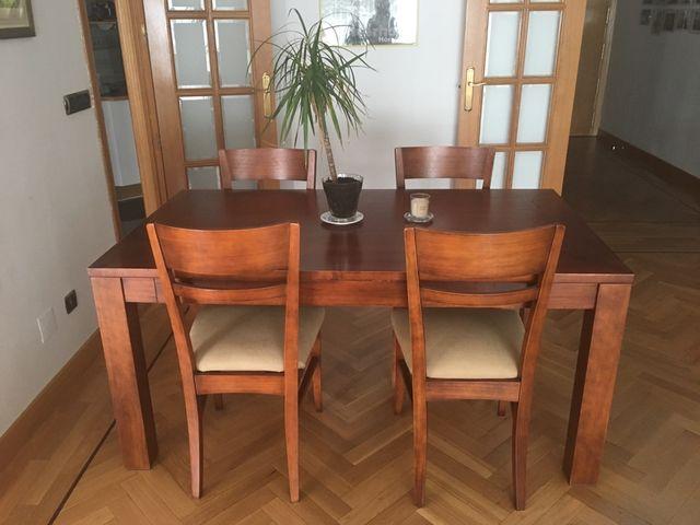 mesa comedor y sillas madera teka de segunda mano por 920
