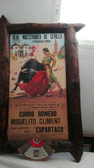 el póster taurino antiguo enmarcado