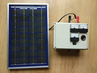 Panel solar 10w con regulador