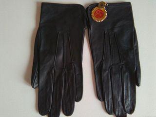 guantes piel, mano estrecha