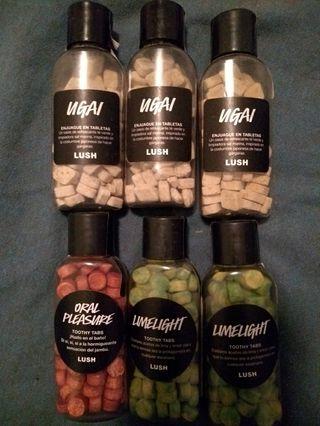 Lush- tabletas dentífricas y enjuague en tabletas