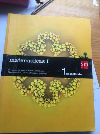 Libro Matemáticas 1Bach SM
