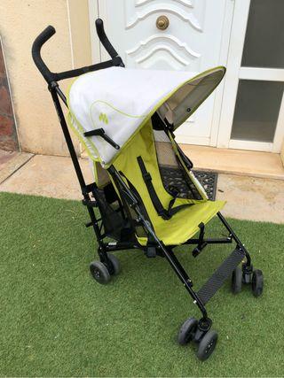 Carro McLaren para bebés blanco y verde