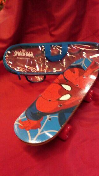 mini skate spiderman madera