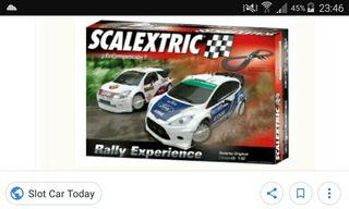 circuito scalextric rally