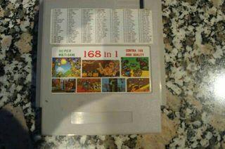 cartucho 168 en 1,72 pines 8 bits