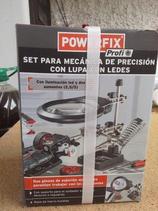 Set mecánica precisión. Lupa con leds.