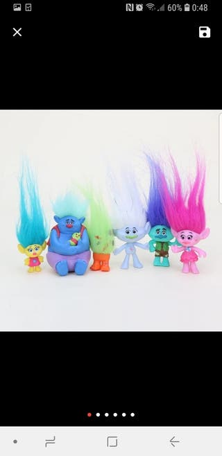 lote de 6 trolls ,(NUEVO)