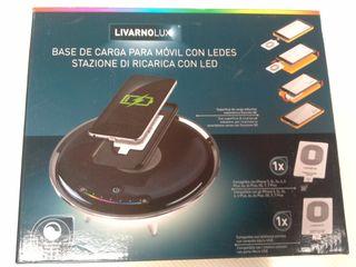 LIVARNOLUX Base de carga para móvil con leds