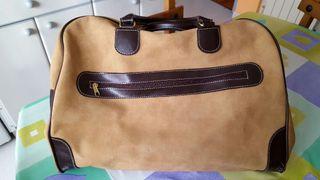 maleta viaje de piel estilo antiguo gran calidad