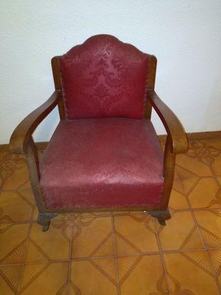 Sillon Tapizado en Rojo