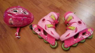 patines linea ,casco y protecciones.